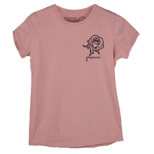 Sustainable Cotton Women's T-Shirt - Rose Pocket Icon