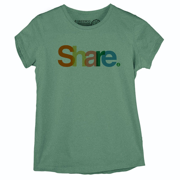 Sustainable Cotton Women's T-Shirt - Share