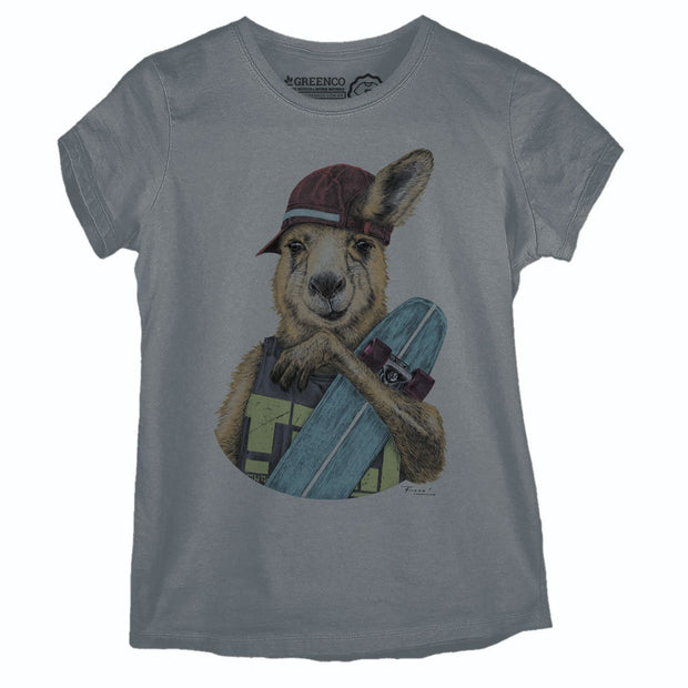 Sustainable Cotton Women's T-Shirt - Skateroo Color - RK