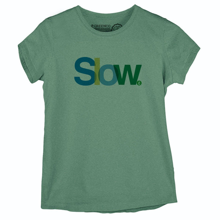 Sustainable Cotton Women's T-Shirt - Slow