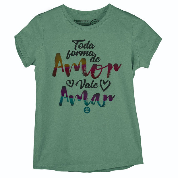 Sustainable Cotton Women's T-Shirt - Toda Forma de Amor