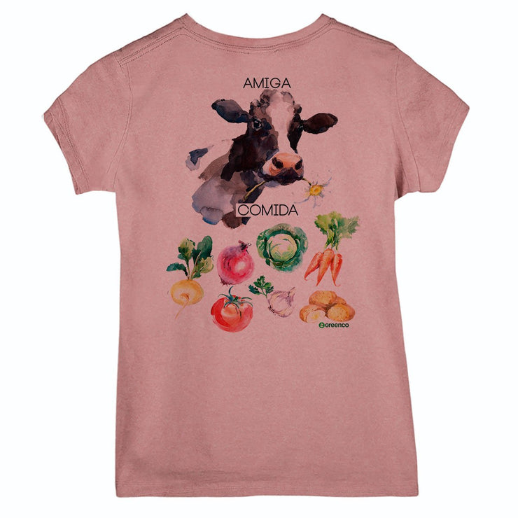Sustainable Cotton Women's T-Shirt - Friendly Cow