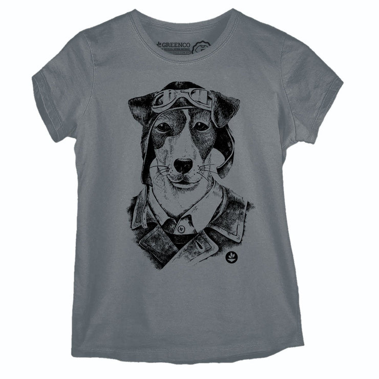 Sustainable Cotton Women's T-Shirt - Vegan Dog