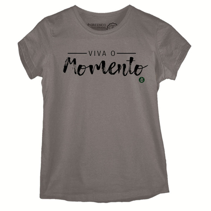 Sustainable Cotton Women's T-Shirt - Viva o Momento
