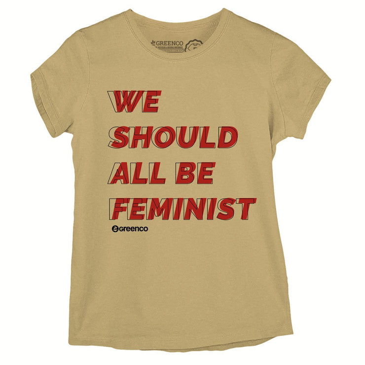 Sustainable Cotton Women's T-Shirt - We Should All Be Feminist