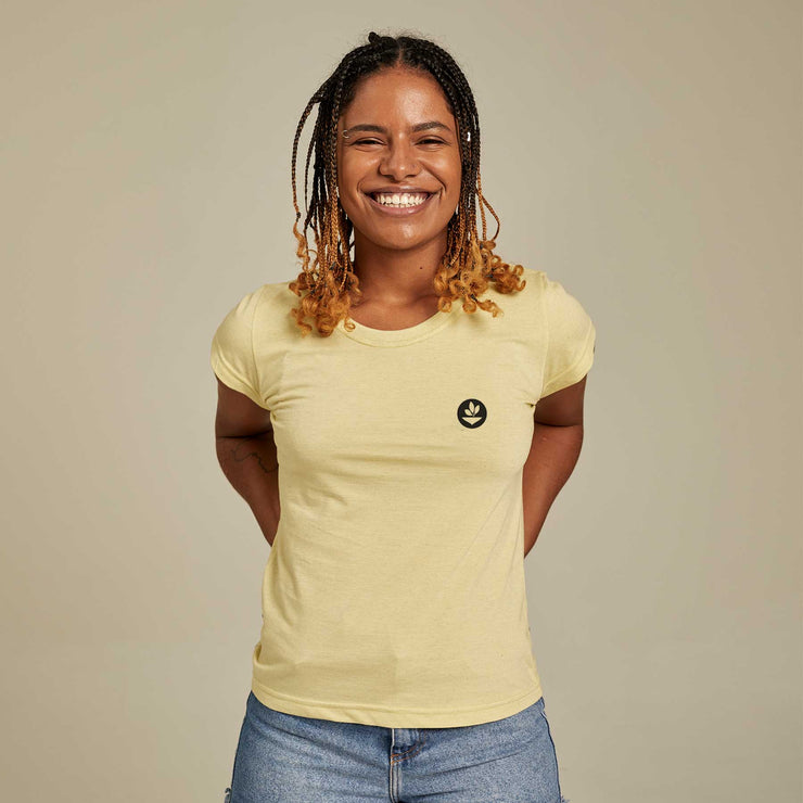 Recycled Polyester + Linen Women's T-shirt - Basic