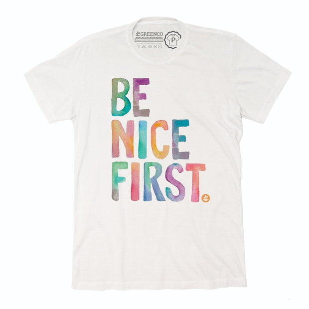 Sustainable Cotton Men's T-Shirt - Be Nice First