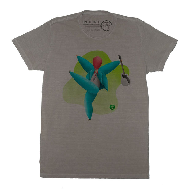Sustainable Cotton Men's T-Shirt - Rock Bowie