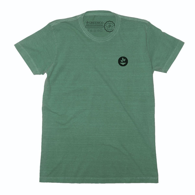 Sustainable Cotton Men's T-Shirt - Green Headdress