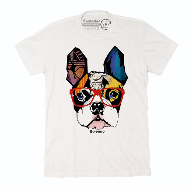 Sustainable Cotton Men's T-Shirt - Dog Hipster
