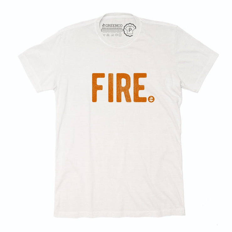 Sustainable Cotton Men's T-Shirt - Fire