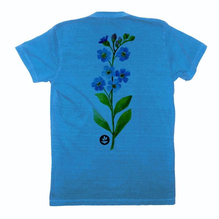 Sustainable Cotton Men's T-Shirt - Watercolor Flower 2