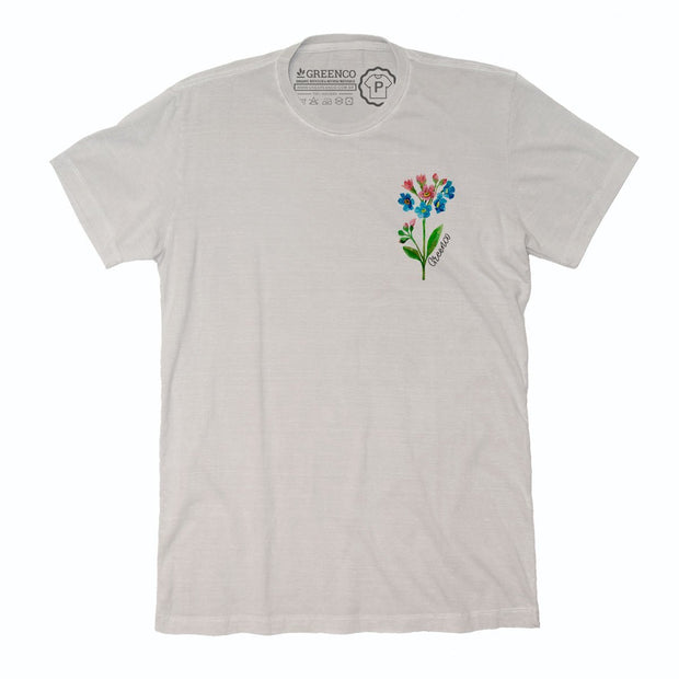 Sustainable Cotton Men's T-Shirt - Watercolor Flower