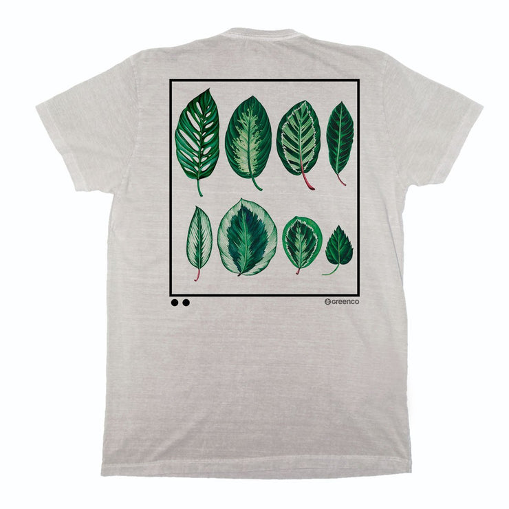 Sustainable Cotton Men's T-Shirt - Leaves