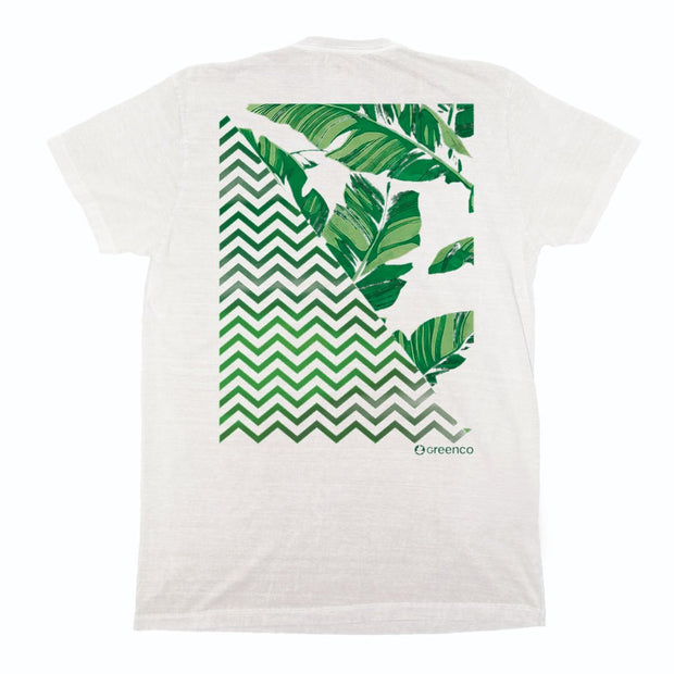 Sustainable Cotton Men's T-Shirt - Graphic Leaves