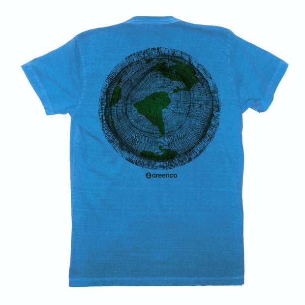 Sustainable Cotton Men's T-Shirt - Green Wood World