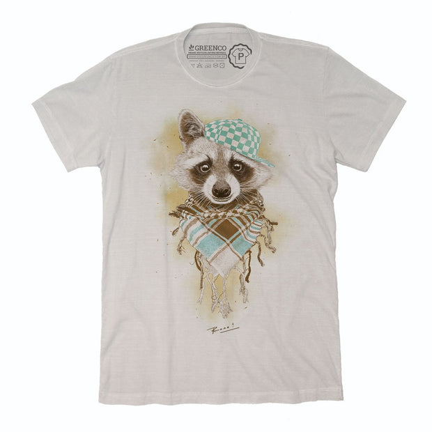 Sustainable Cotton Men's T-Shirt - Rocco Raccoo - RK