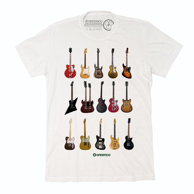 Sustainable Cotton Men's T-Shirt - Guitar Types