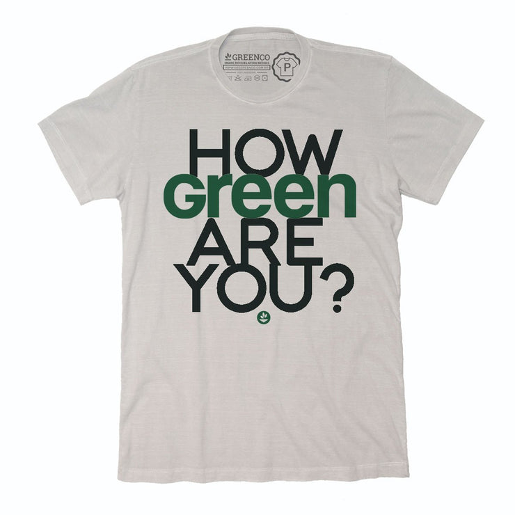 Sustainable Cotton Men's T-Shirt - How Green Are You