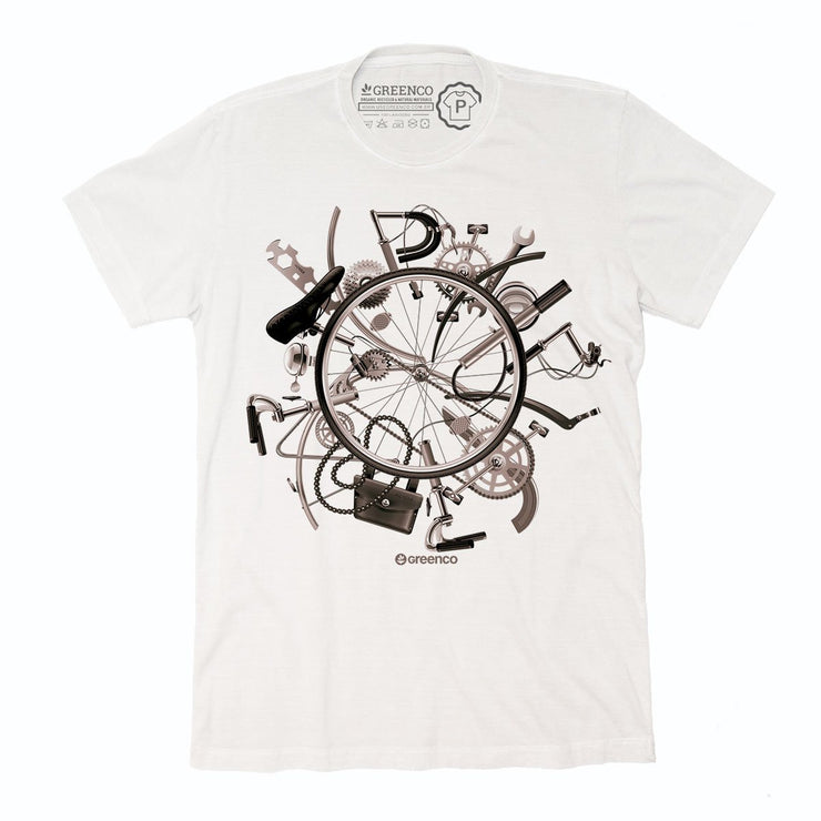 Sustainable Cotton Men's T-Shirt - I Love Bike