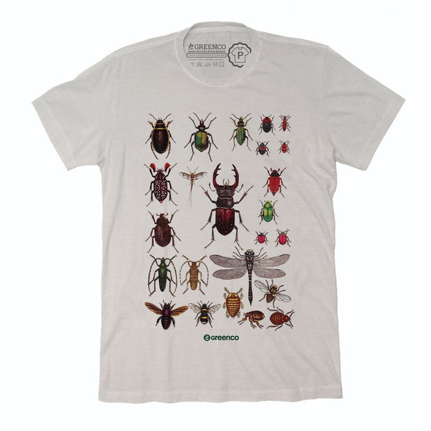 Sustainable Cotton Men's T-Shirt - Insects