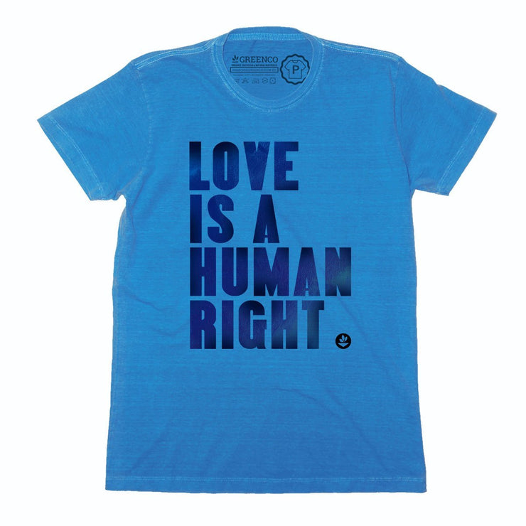 Sustainable Cotton Men's T-Shirt - Love is a Human Right