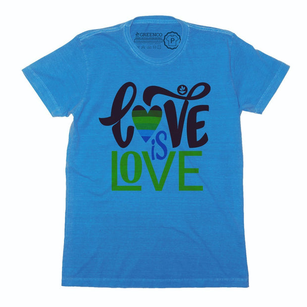 Sustainable Cotton Men's T-Shirt - Love is Love