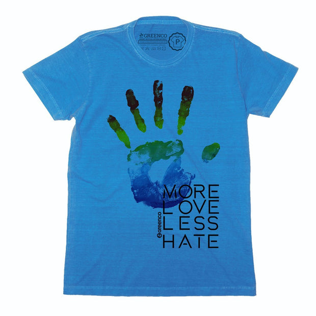 Sustainable Cotton Men's T-Shirt - More Love Less Hate