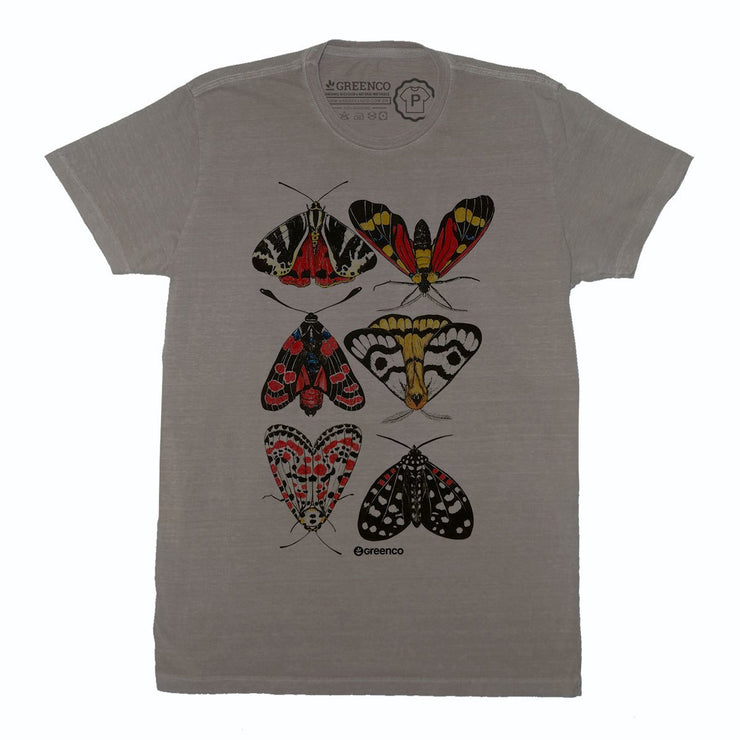 Sustainable Cotton Men's T-Shirt - Moths