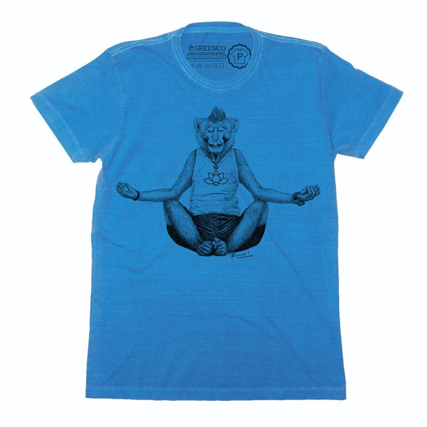 Sustainable Cotton Men's T-Shirt - Monkey Yoga - RK