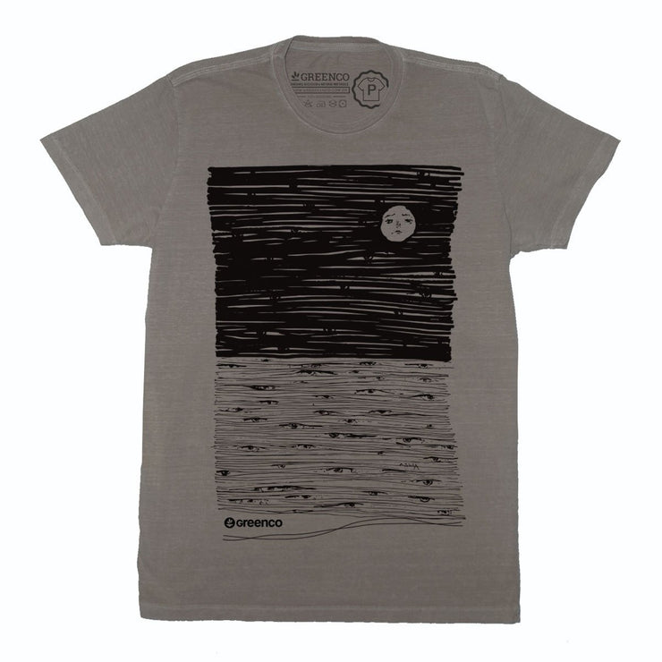 Sustainable Cotton Men's T-Shirt - Moon Eyes
