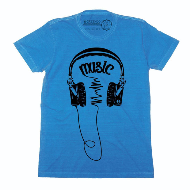 Sustainable Cotton Men's T-Shirt - Music