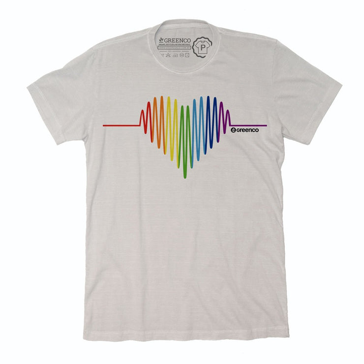 Sustainable Cotton Men's T-Shirt - Pride Heart