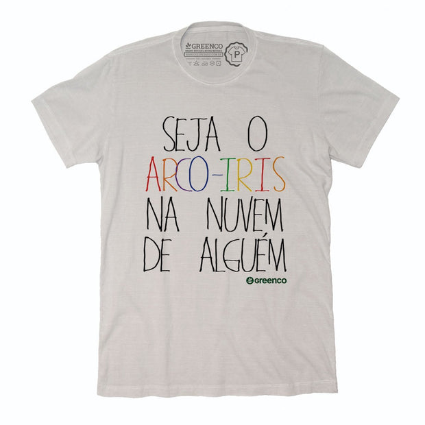 Sustainable Cotton Men's T-Shirt - Seja o arco-íris