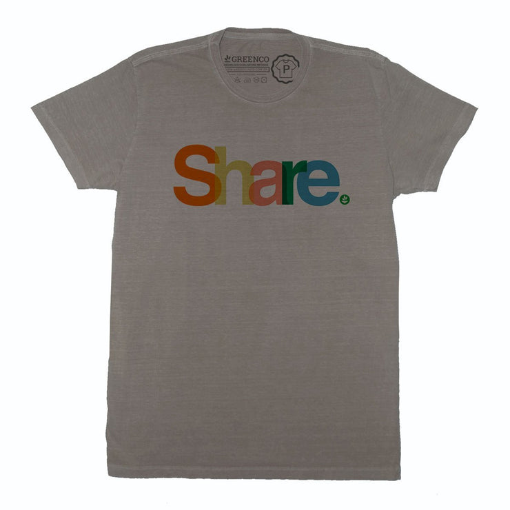Sustainable Cotton Men's T-Shirt - Share