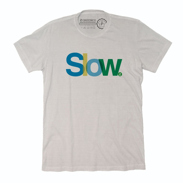 Sustainable Cotton Men's T-Shirt - Slow