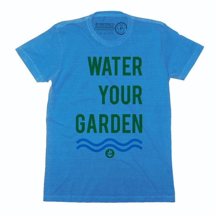 Sustainable Cotton Men's T-Shirt - Water Your Garden