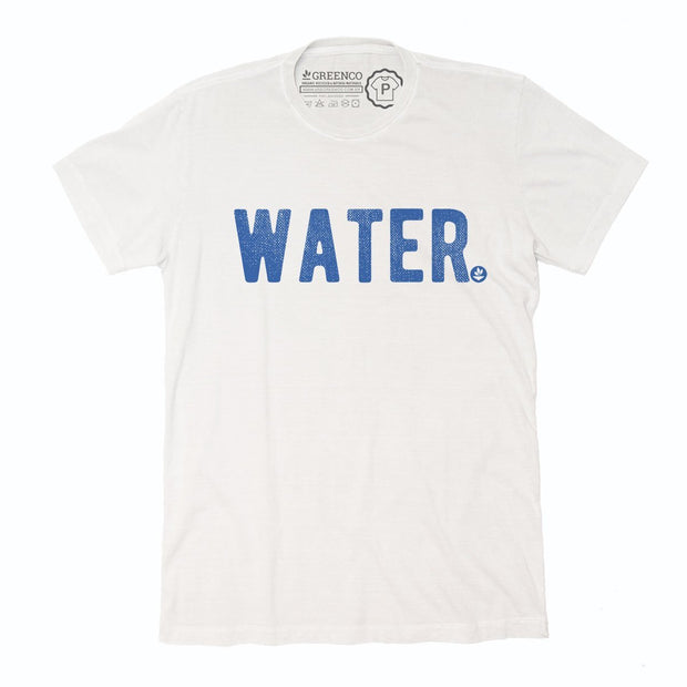 Sustainable Cotton Men's T-Shirt - Water