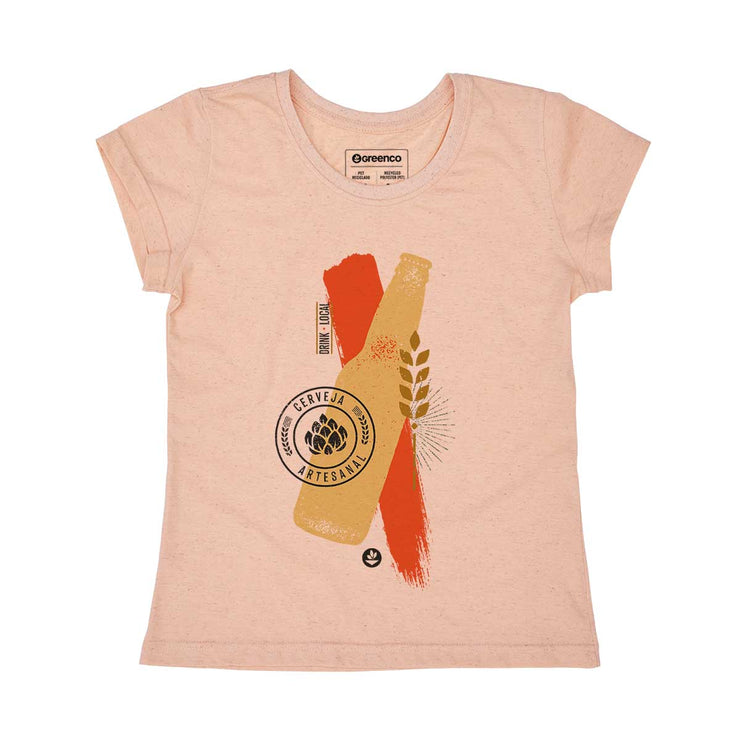 Recycled Polyester + Linen Women's T-shirt - Craft Beer