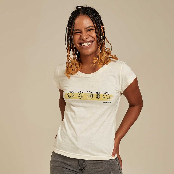 Recycled Polyester + Linen Women's T-shirt - Brewers
