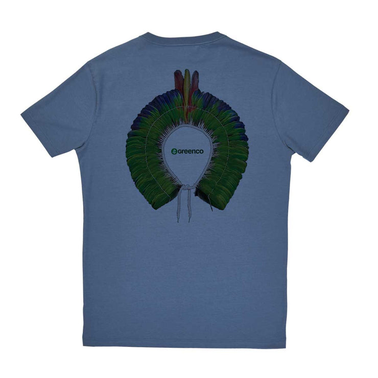 Comfort Cotton Men's V-neck T-shirt - Green Headdress