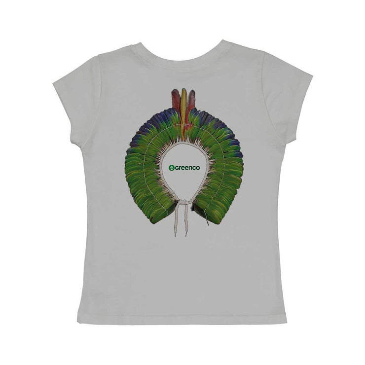 Comfort Cotton Women's V-neck T-shirt - Green Headdress