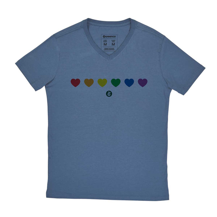 Comfort Cotton Men's V-neck T-shirt - Color Heart
