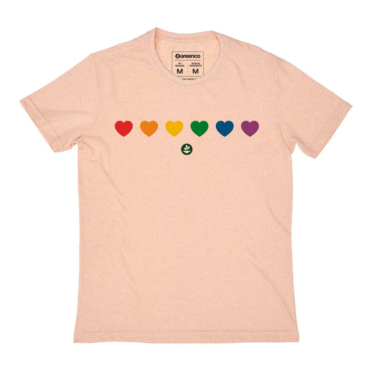 Recycled Polyester + Linen Men's T-shirt - Color Heart