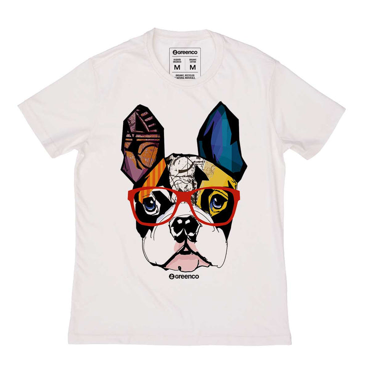 Organic Cotton Men's T-shirt - Dog Hipster