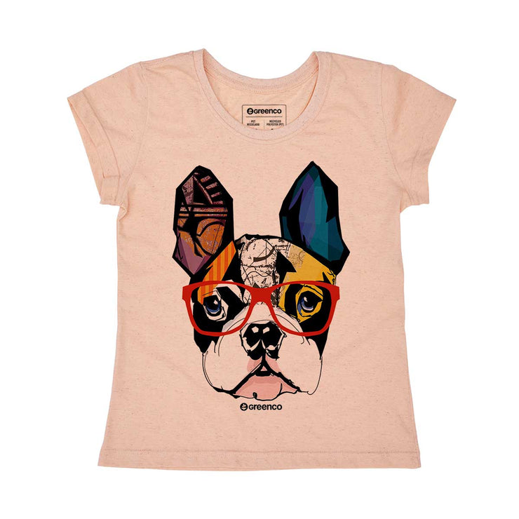 Recycled Polyester + Linen Women's T-shirt - Dog Hipster