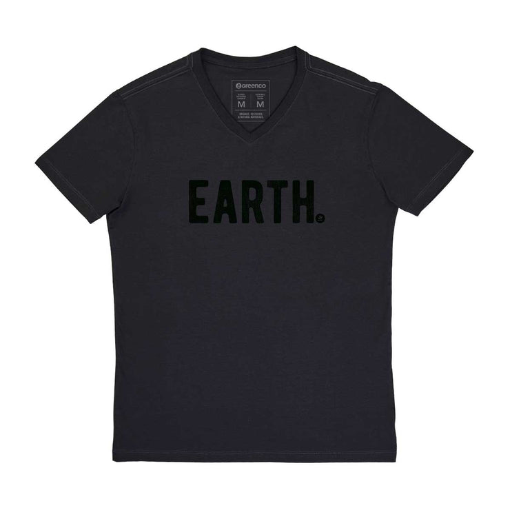 Comfort Cotton Men's V-neck T-shirt - Earth