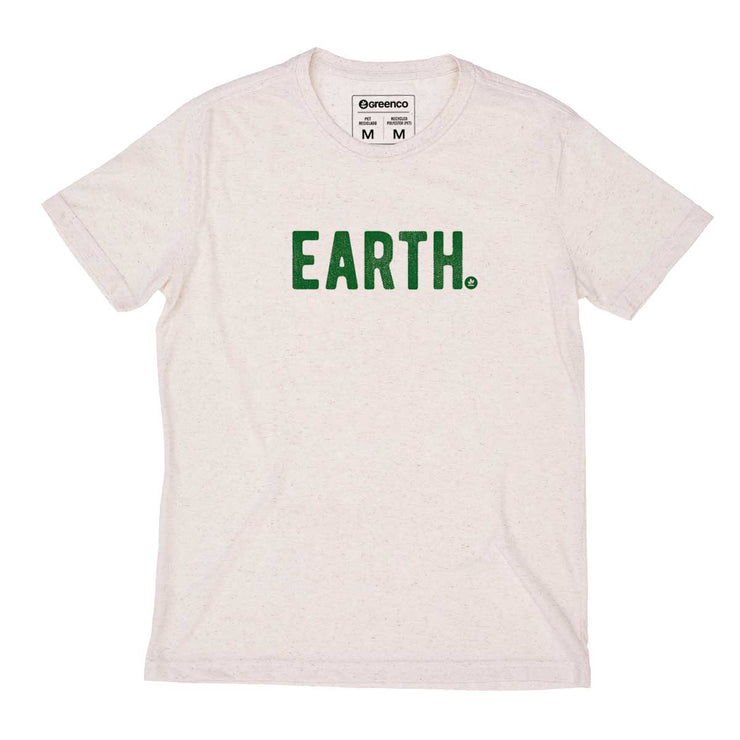 Recycled Polyester + Linen Men's T-shirt - Earth