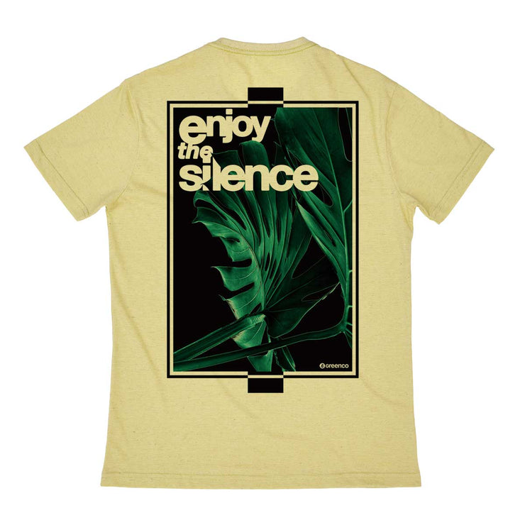 Recycled Polyester + Linen Men's T-shirt - Enjoy The Silence