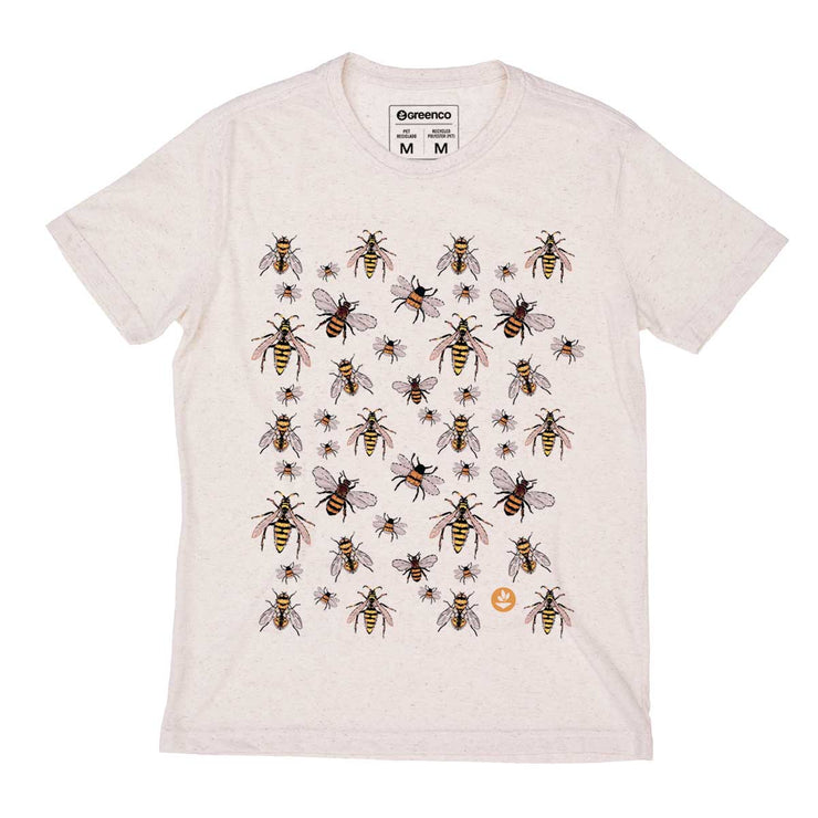 Recycled Polyester + Linen Men's T-shirt - Swarm